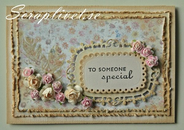 A card To someone special Scrapbooking, card,