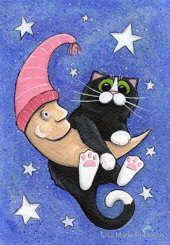 Картинки спокойной ночи с котиками прикольные нарисованные, интересные факты животных