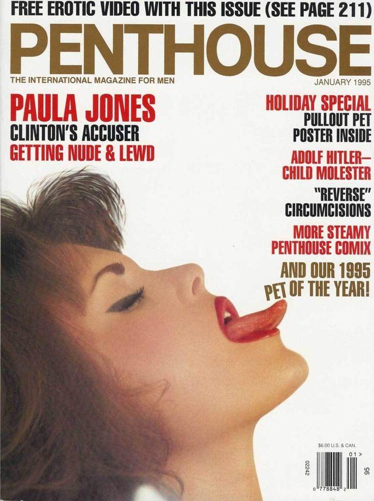 Penthouse Magazine Adult Back Issue January 1995 Paula Jones Holiday Special
