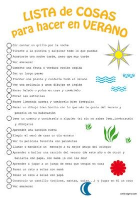 Lista de cosas que hacer en verano para niños