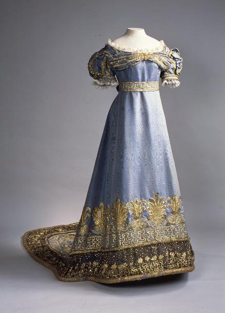 Ceremonial Court Dress (according to legend, belonged to Empress Maria Fyodorovna,)  Russia, 1820-1830