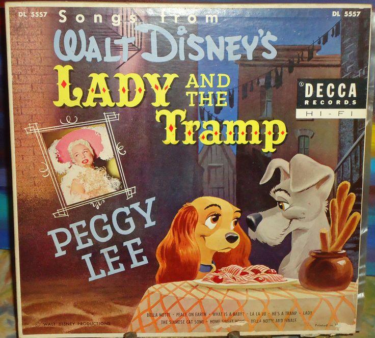 Peggy Lee Songs From Walt Disney Lady And The Tramp Decca Vinyl Lp 10 Disney Movie Soundtracks Disney Ladies Vintage Disney