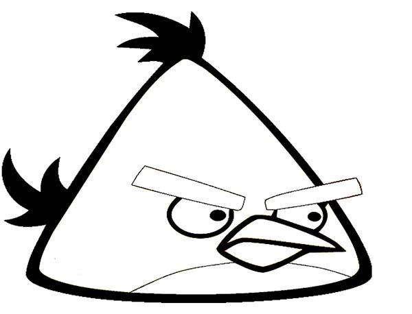 Angry Birds Yellow Bird In Angry Bird Coloring Page