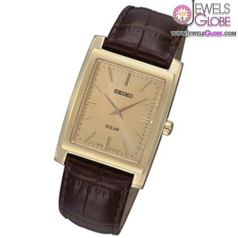 Men's Seiko Solar Gold-Tone Stainless Steel Watch with ...