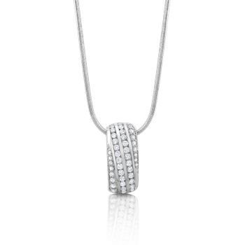 Beautiful diamond pendant - comes in a matching set. The perfect way to say I Love You  18ct White Gold Diamond Pendant  #ShowcaseJewellers #necklace #jewellery #pendant