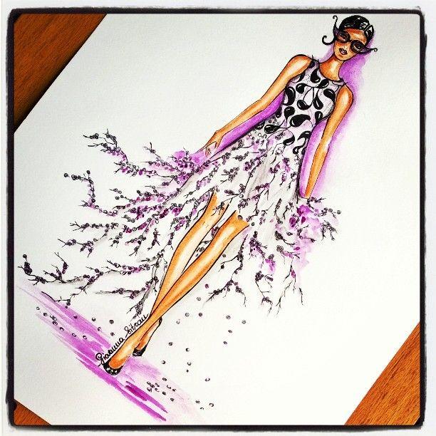 Draw of the day! Open call #DrawADotGiambattistavalli #giambattistapr #spring15 #fashionillustration #fashionillustrator #fashionsketch #fashiondraw #drawadot #drawing #doodle #sketch #instaart #instafashion #glam #giovannasitran www.theglampepper.com