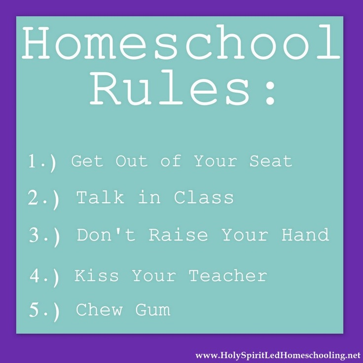 "What are ""rules"" in your homeschool? (Holy Spirit-led Homeschooling.net)"