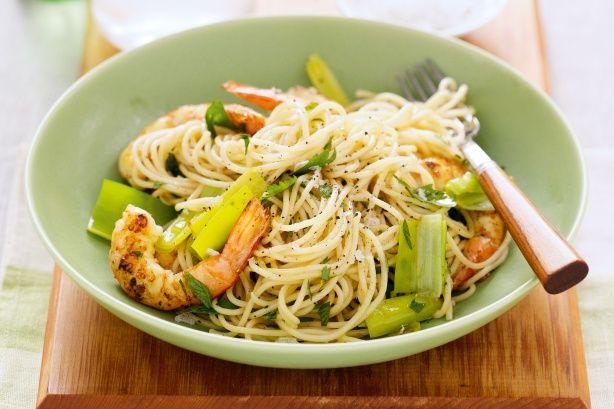 Prawn & leek spaghetti main image