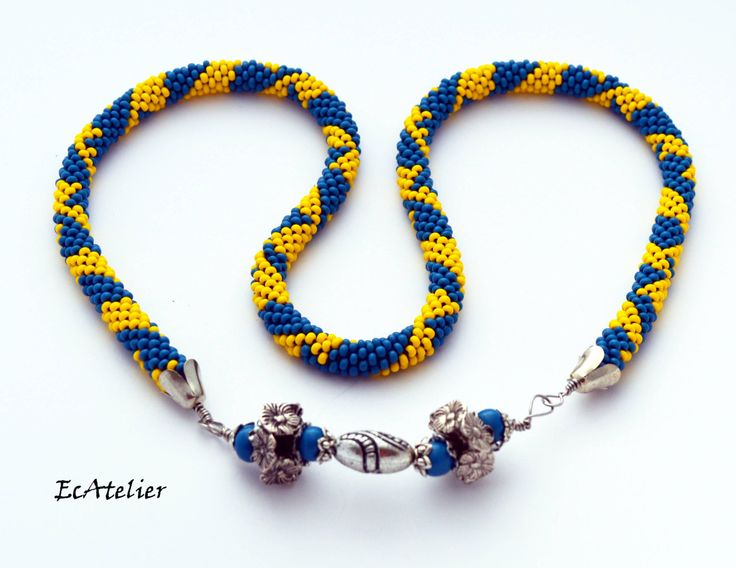NEW! Extraordinary necklace / bracelet in colours of Caribbean Ocean by EvAtelier1 on Etsy