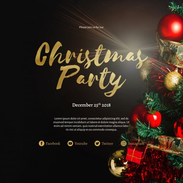 Creative Christmas Party Cover Template Free Psd Freepik Freepsd In 2020 Christmas Party Invitations Creative Christmas Christmas Party