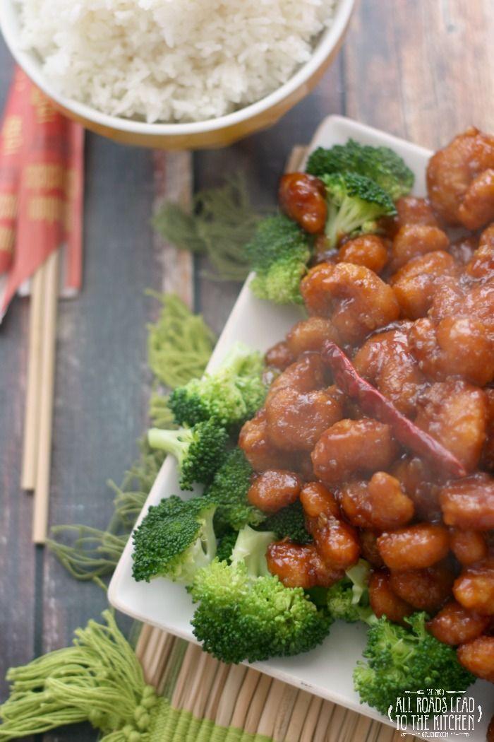 General Tso's Popcorn Shrimp   #MoreCoastal