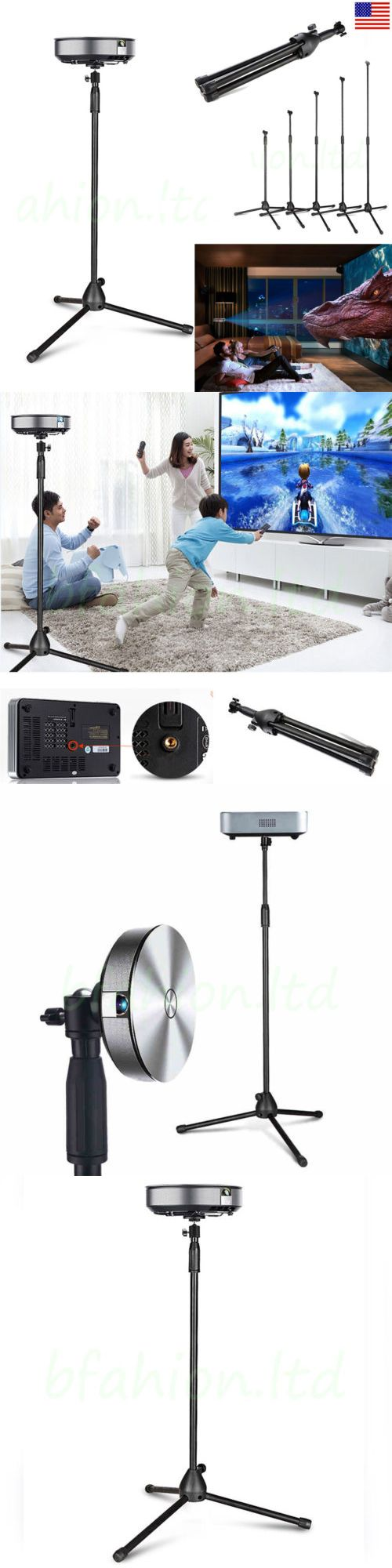 Projector Mounts and Stands: Portable Extendable Tripod Projector Mount Stand Fits All 1/4 Screw Projector BUY IT NOW ONLY: $39.99