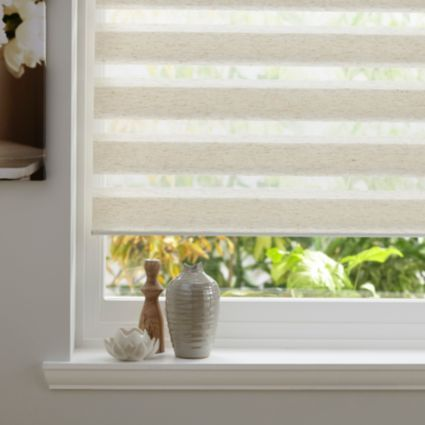 Colours Day & Night Corded Cream Roller Blind (L)1.6m (W)1.2m: Image 1