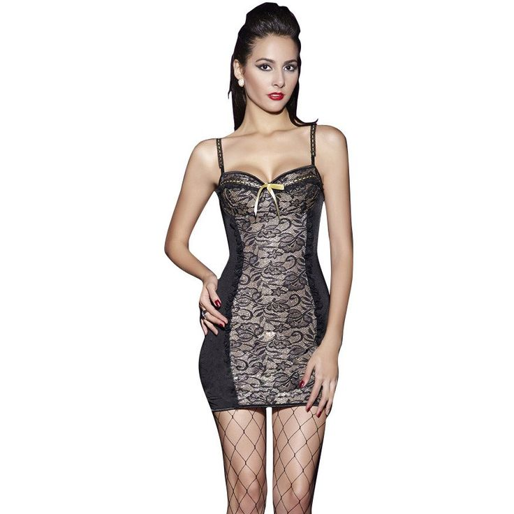 Use Your Imagination Stretch Lace Chemise