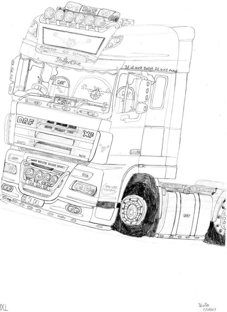 vrachtwagen kleurplaat volvo zoeken werkatelier
