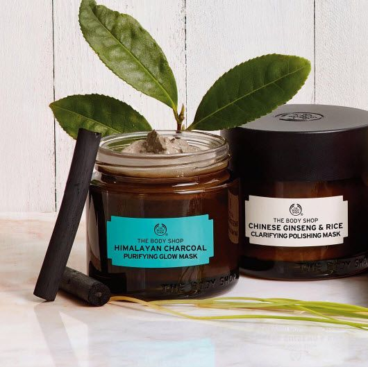 Discover two of our 100% Vegan Face Masks - the Himalayan Charcoal Purifying Glow Mask & Chinese Ginseng and Rice Clarifying Polishing Mask