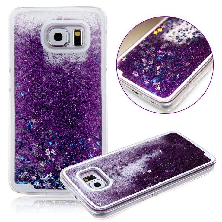 Samsung Galaxy S6/S6 Edge/S7/S7 Edge Liquid Glitter Waterfall Moving Star Case