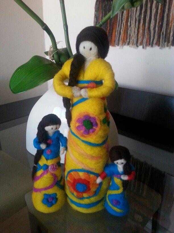 Muñecas de vellon  Madre he hijas