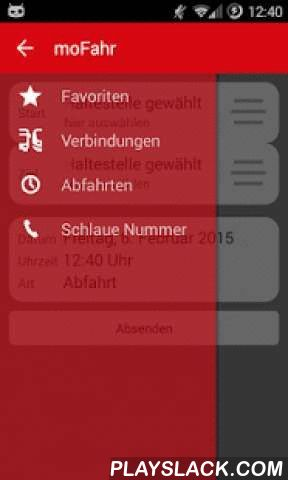 """VKU MoFahr  Android App - playslack.com ,  Die App """"moFahr"""" der Verkehrsgesellschaft Kreis Unna mbH (VKU) ist der ideale Begleiter für mobile Menschen in Nordrhein-Westfalen. Sie bietet jederzeit aktuelle Fahrplaninformationen und zeigt die optimale Reise mit Bus und Bahn zu beliebigen Zielen auf. Die Bedienung ist durchweg einfach und selbsterklärend. Der passende Bus oder der nächste Zug sind auch ohne Vorkenntnisse stets im Handumdrehen ermittelt. Die App berücksichtigt auf Wunsch alle…"""