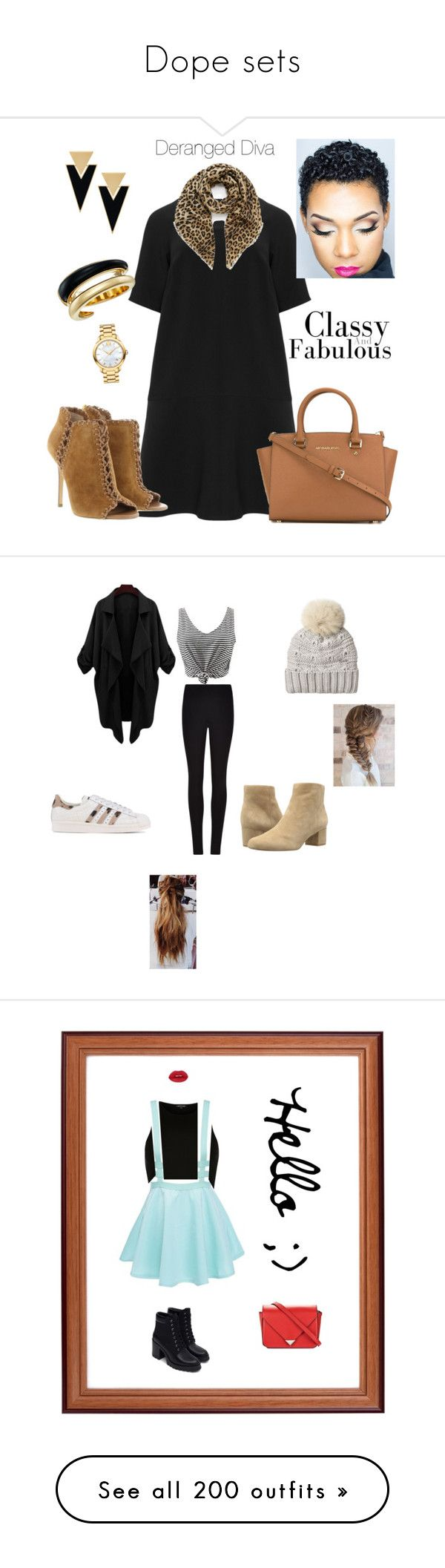 """Dope sets"" by thepinkandpurplerainbow ❤ liked on Polyvore featuring Manon Baptiste, Michael Kors, MICHAEL Michael Kors, Mulberry, Yves Saint Laurent, Movado, Woolrich, Winser London, WithChic and Sam Edelman"