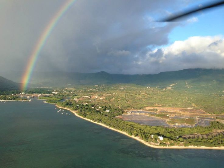 The breath taking views from a helicopter ride in Mauritius.