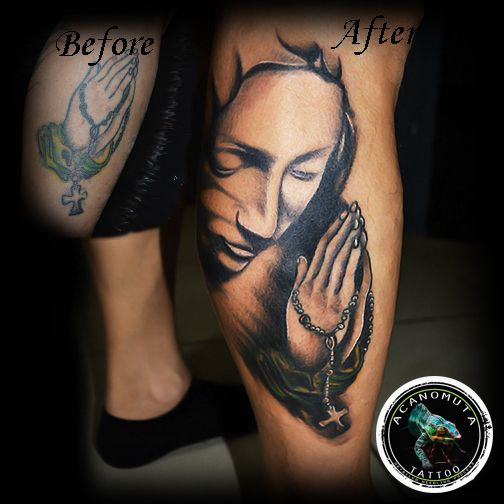 Madonna is a great idea for cover up your tattoo.Choose your own cover up tattoo now at Acanomuta Tattoo Studio