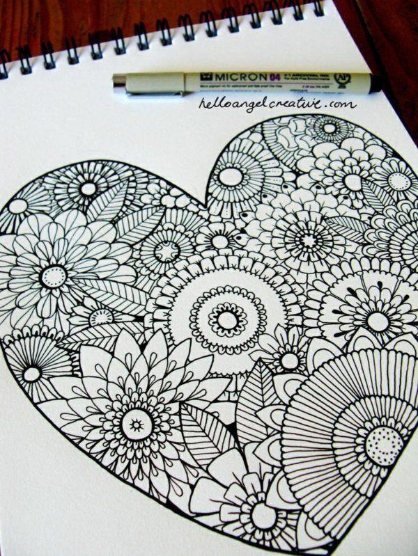 mandalas für erwachsene form zeichnung