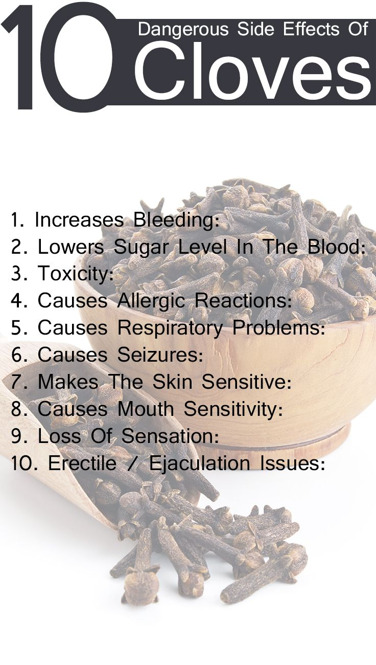 10 Dangerous Side Effects Of Cloves picture