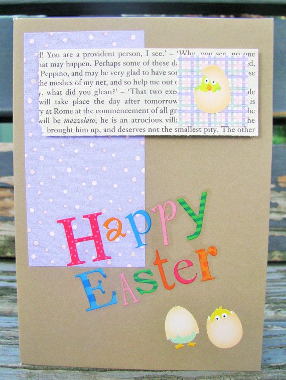 Easter Chicks  handmade card FWB easter card by RogueKissedCraft