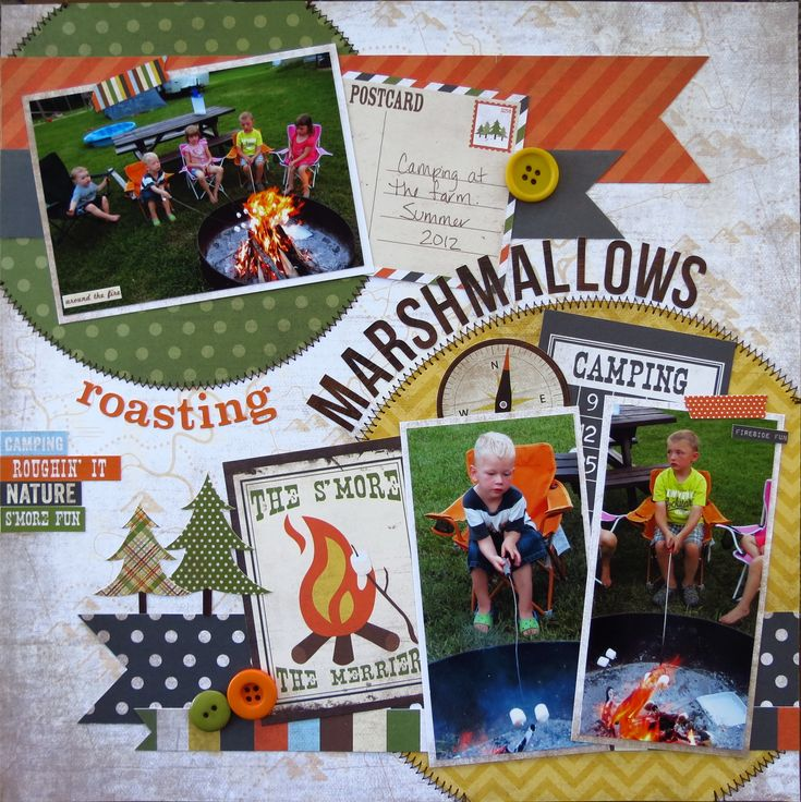 Roasting Marshmallows - Scrapbook.com