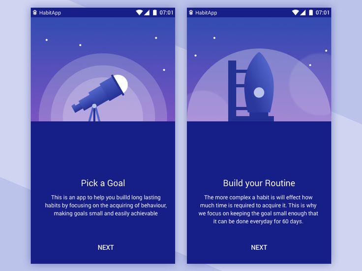 Habit App Illustrations