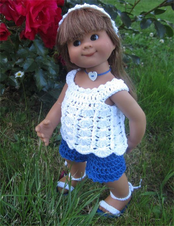 87- FICHE PATRON CROCHET Tenue Clémentine pour poupée Wichtel : Jeux, jouets par atelier-crochet