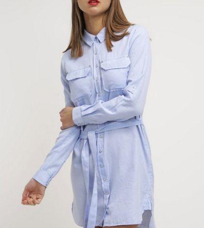 Denim Hunter SUKI Sukienka koszulowa jasna niebieska chambray blue