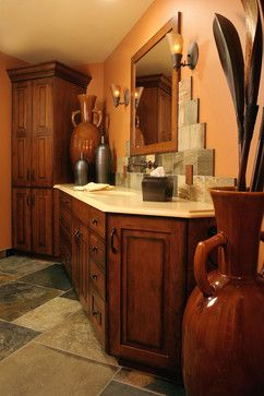 tuscan style bathroom using shower curtain - Google Search