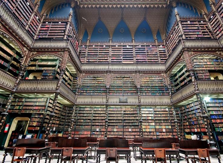 Library in Rio de Janiero, Brazil