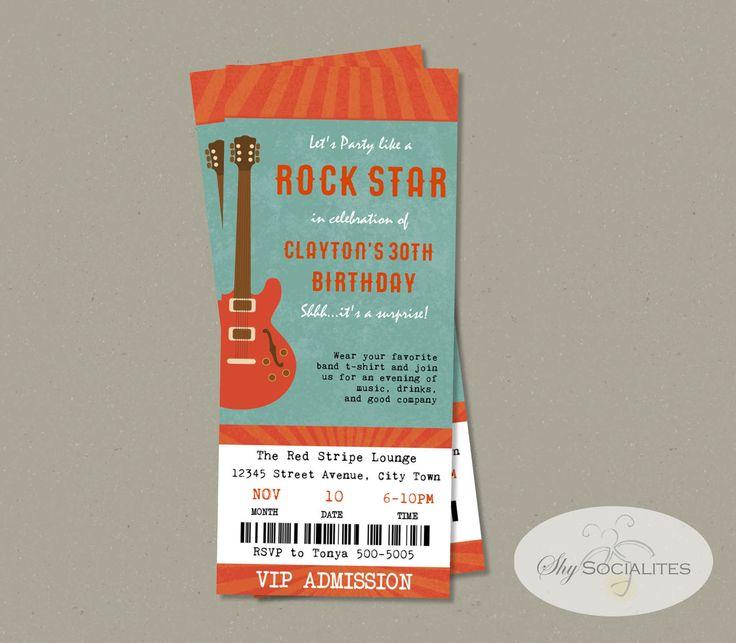 Best 25 Concert ticket template ideas – Concert Ticket Invitation Template