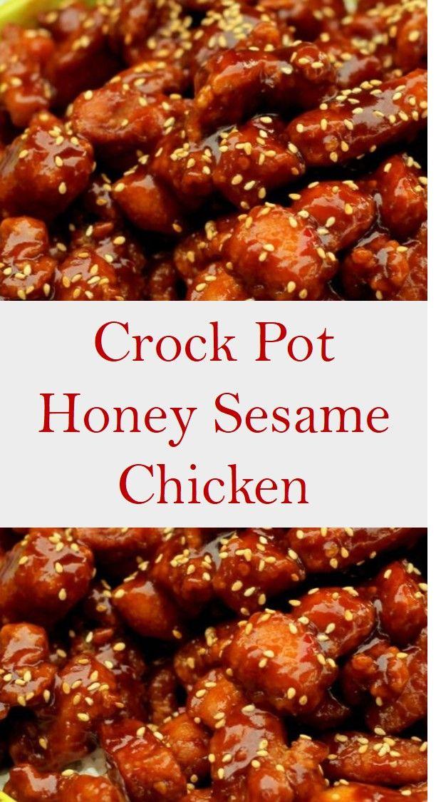 The Best Crock Pot Honey Sesame Chicken
