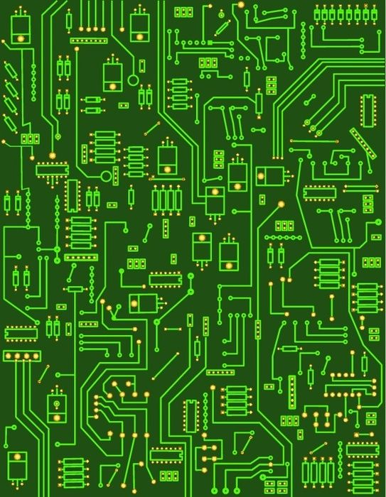 electronic circuit - photo/picture definition - electronic circuit word and phrase image