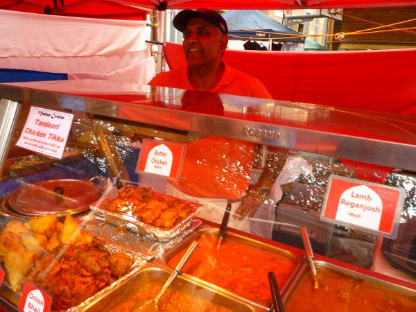 Indian Food Market stall at Glebe Markets #Australia #travel #Sydney has a wonderful variety of cuisine. The world's food has become Australia's.