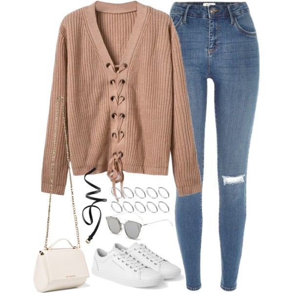 A fashion look from September 2016 featuring River Island jeans, Givenchy shoulder bags and ASOS rings. Browse and shop related looks.