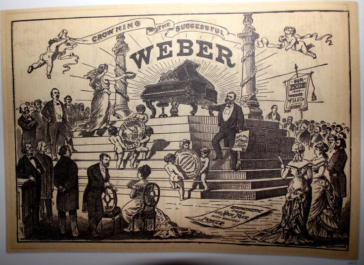 1877 - Ad for Weber Pianos (Puck Magazine)