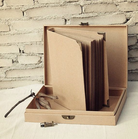 78 pages Kraft Scrapbook Album // Folder Album // by PapergeekMY, $39.00