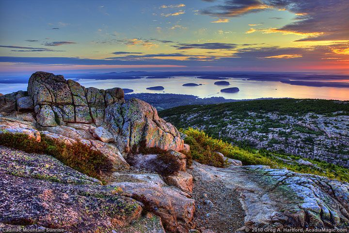 Cadillac Mountain Sunrise in Bar Harbor  Acadia National Park, Maine. One of THE most breathtaking places I've ever seen!