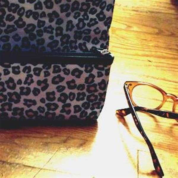 Leopard Makeup Bags and Glasses by Bows and Beau-ties