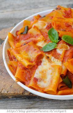 Paccheri alla sorrentina ricetta napoletana veloce vickyart arte in cucina
