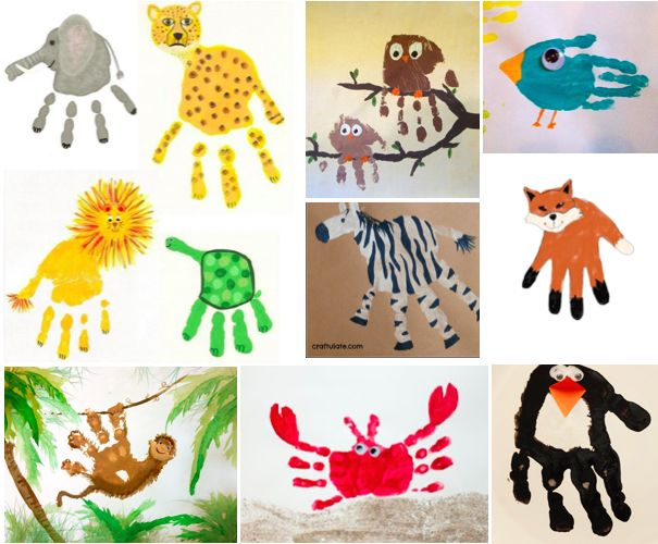 these handprints are a craft idea to teach young kids about endangered animals