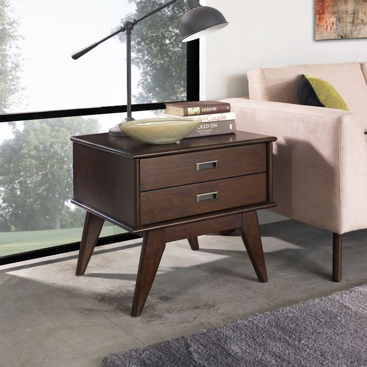 Simple This Wyndenhall Tierney Mid century Side Table is stylish and classy and will plement just