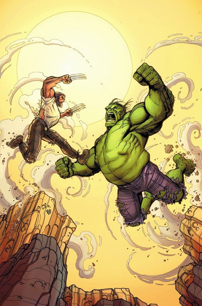 Marvel blog: Old Man Logan ( Secret Wars ) #2:Old Man Logan vs Old Man Hulk dans une couverture variant de Nick Bradshaw