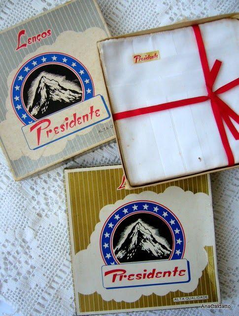 Lenços brancos,  lembra das embalagens antigas do Lenços Presidente: