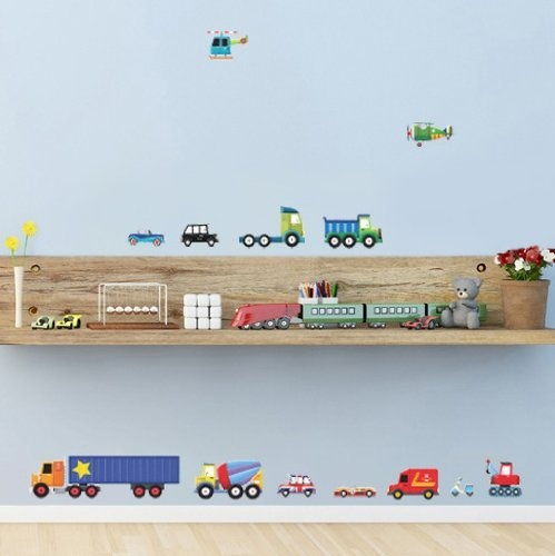 decowall dw 1205 transport wall stickers wall decals wall personalized train theme wall sticker kit now available